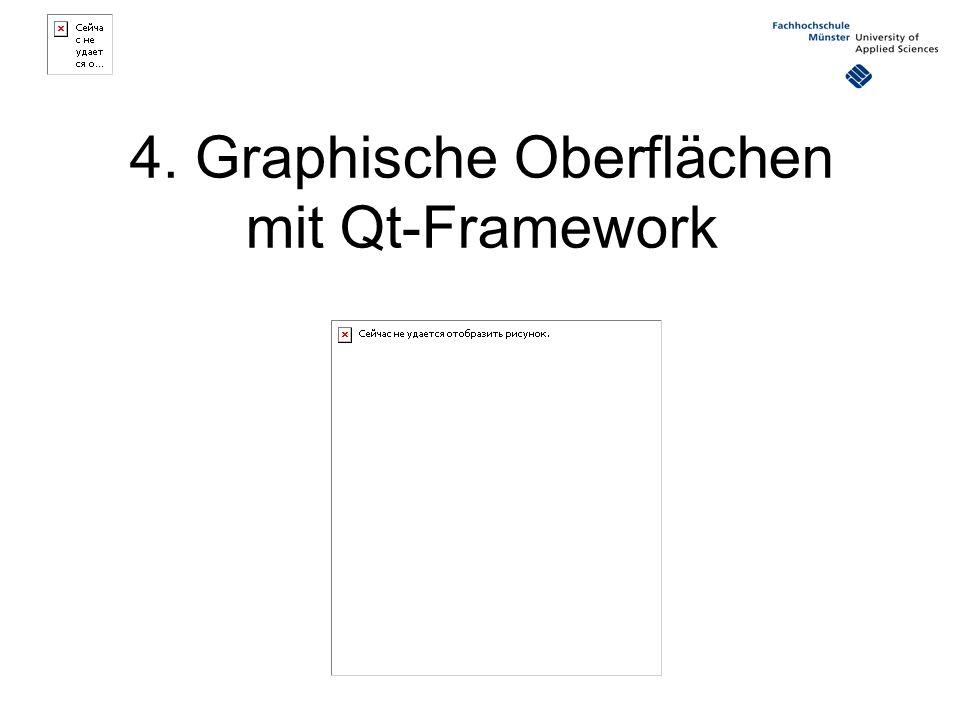 4. Graphische Oberflächen mit Qt-Framework