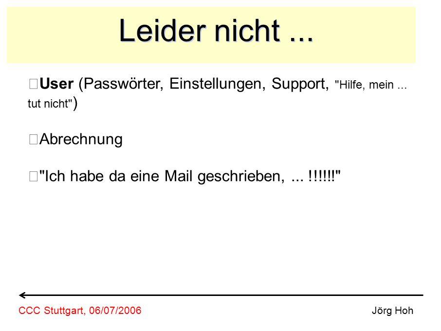 Leider nicht... User (Passwörter, Einstellungen, Support, Hilfe, mein...