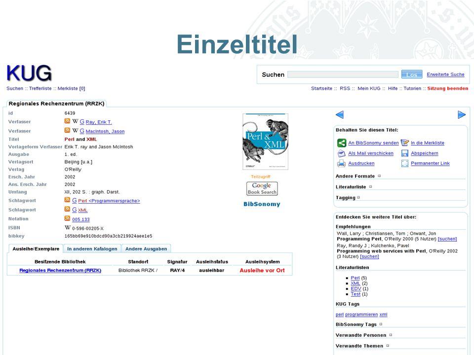 Universität zu Köln Einzeltitel