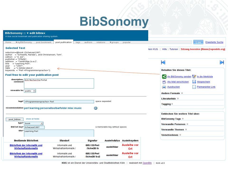 Universität zu Köln BibSonomy