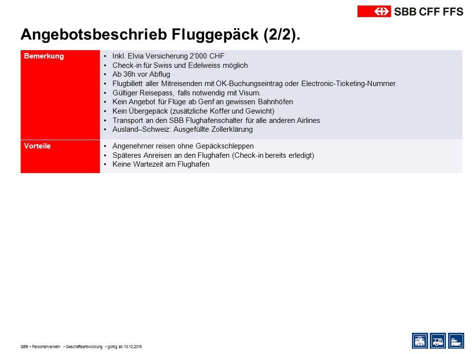 Angebotsbeschrieb Fluggepäck Express (1/2).