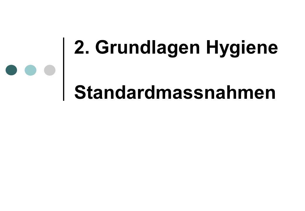 2. Grundlagen Hygiene Standardmassnahmen