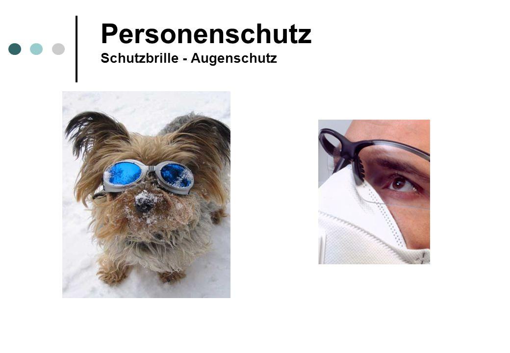 Personenschutz Schutzbrille - Augenschutz