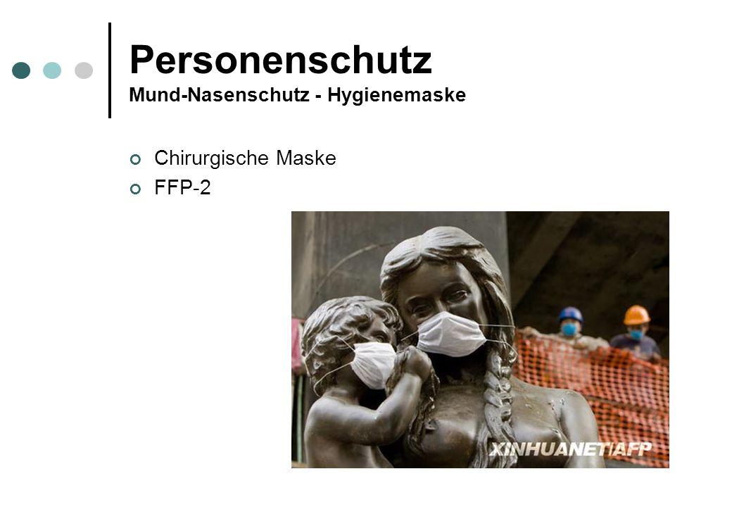 Personenschutz Mund-Nasenschutz - Hygienemaske Chirurgische Maske FFP-2