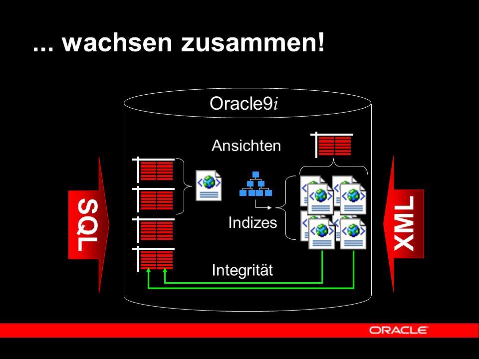 ... wachsen zusammen! SQL XML Integrität Ansichten Indizes Oracle9 i