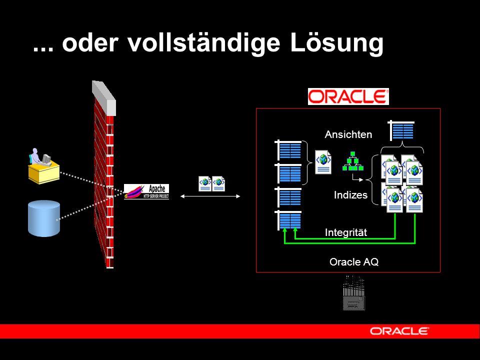 ... oder vollständige Lösung Integrität Ansichten Indizes Oracle AQ