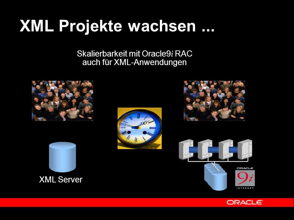 XML Projekte wachsen... XML Server Skalierbarkeit mit Oracle9 i RAC auch für XML-Anwendungen
