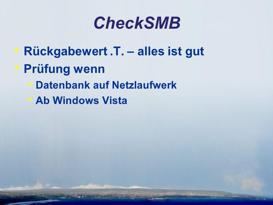 CheckSMB * Rückgabewert.T.