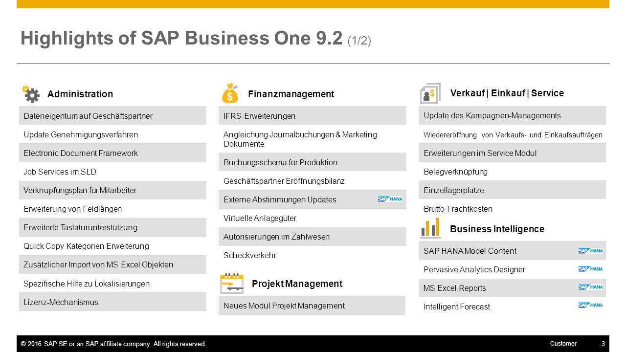 Finanzmanagement SAP Business One 9.2