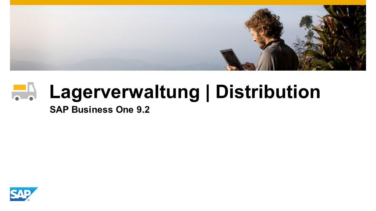 Lagerverwaltung | Distribution SAP Business One 9.2