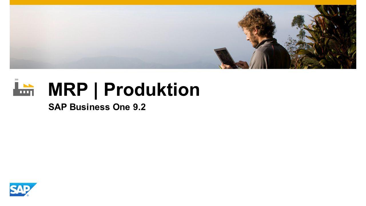 MRP | Produktion SAP Business One 9.2
