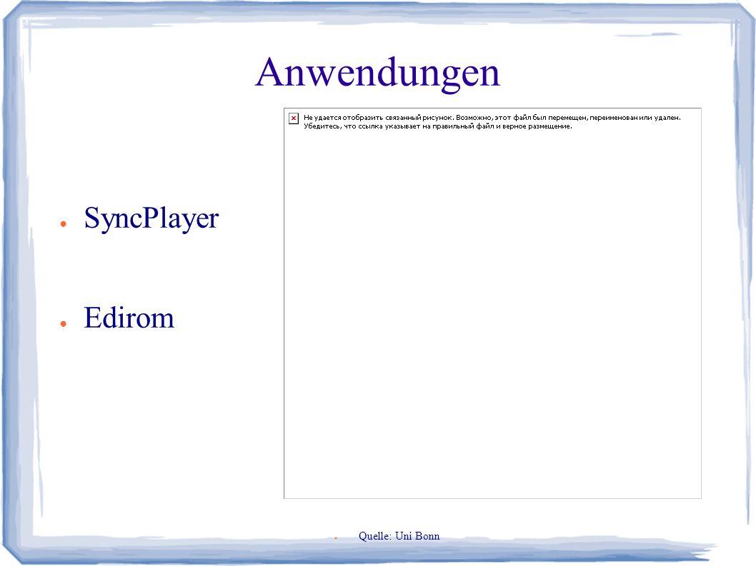 Anwendungen ● SyncPlayer ● Edirom ● Quelle: Uni Bonn