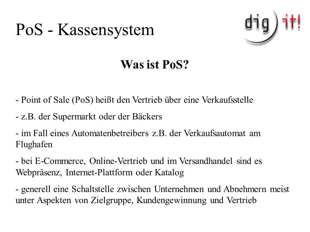 PoS - Kassensystem Was ist PoS.