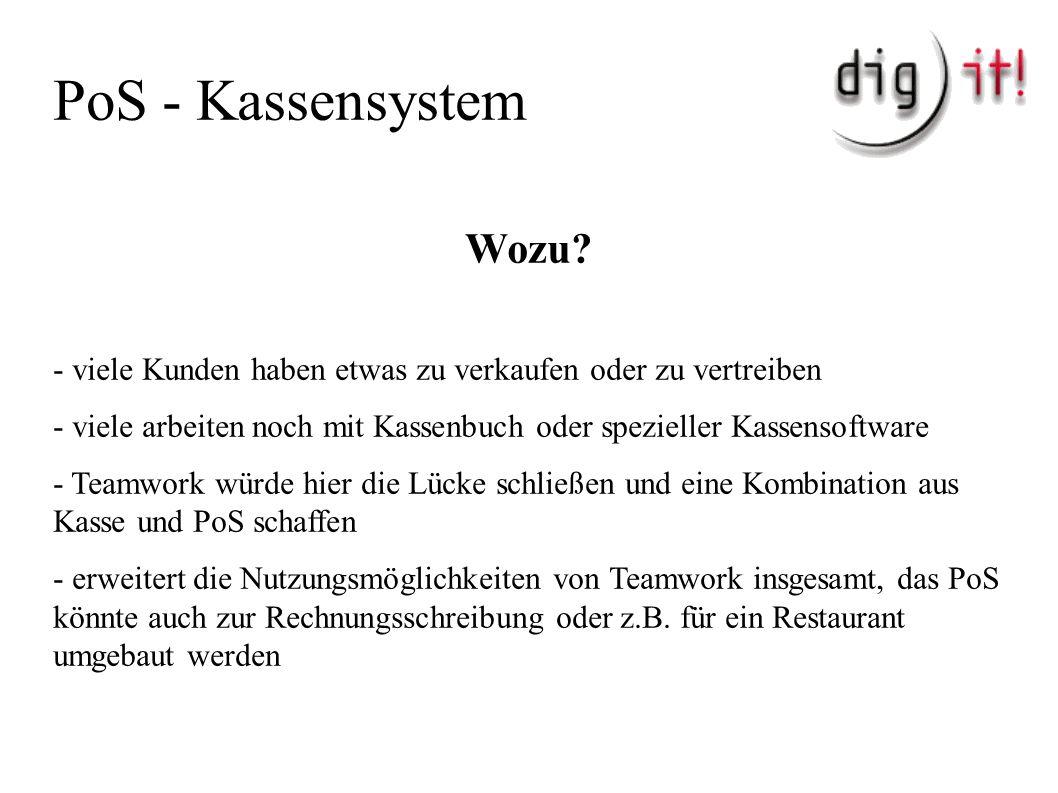 PoS - Kassensystem Wozu.