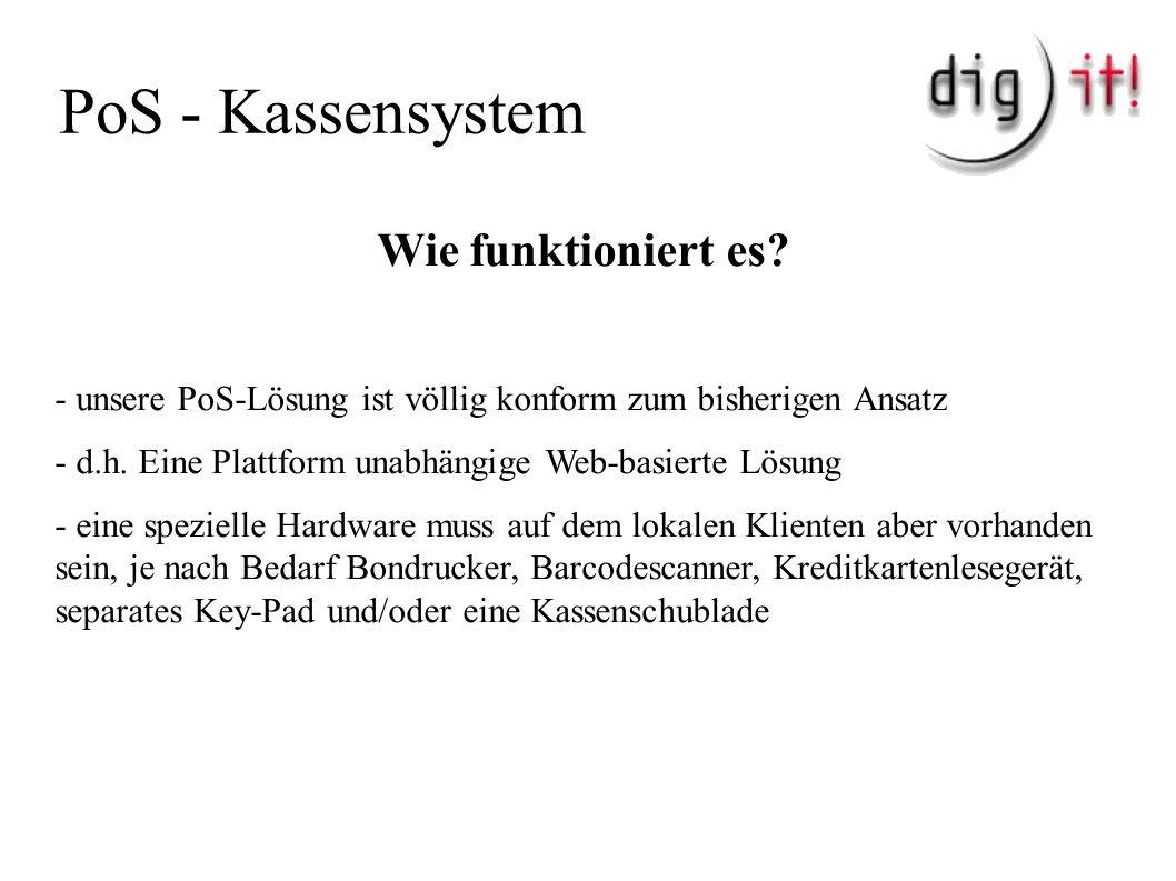 PoS - Kassensystem Wie funktioniert es.