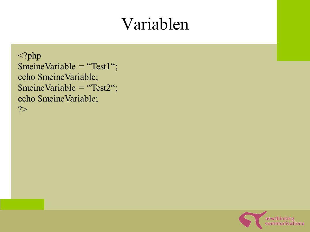 Array ● Arrays sind universelle Datenstrukturen ● Meistens als Listen benutzt ● Assoziative Arrays sind Schlüssel Werte Paare ●