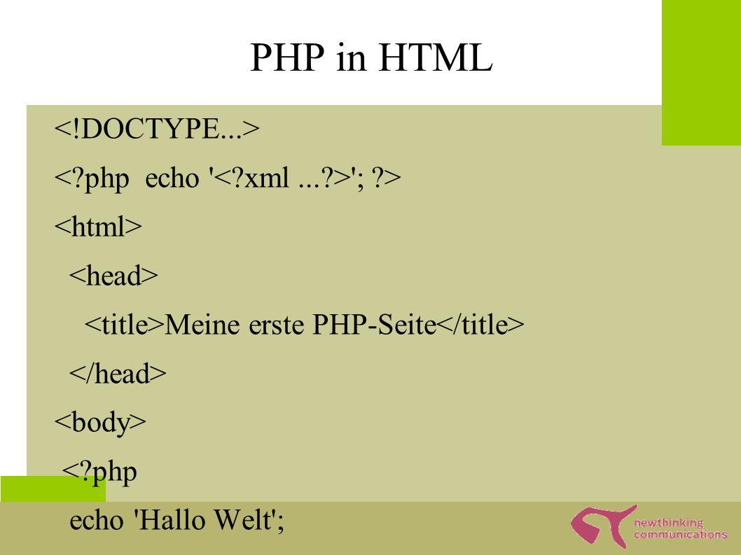 Formulare & PHP... Ihr Name:...