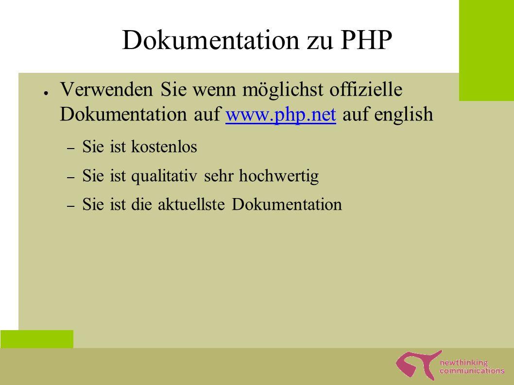 Wo bekomme ich PHP? ● www.php.net Kompliziert www.php.net ● www.apachefriends.org