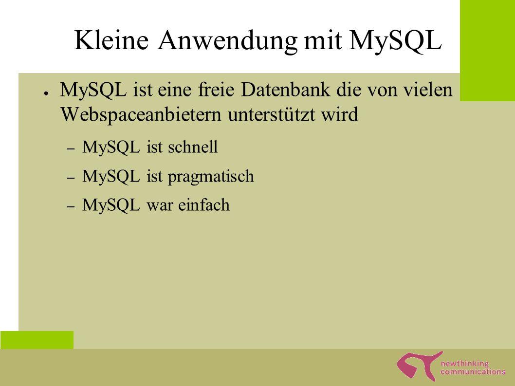 Planung MySQL Gästebuch - Text - Autor - Datum PHP Datei SQL