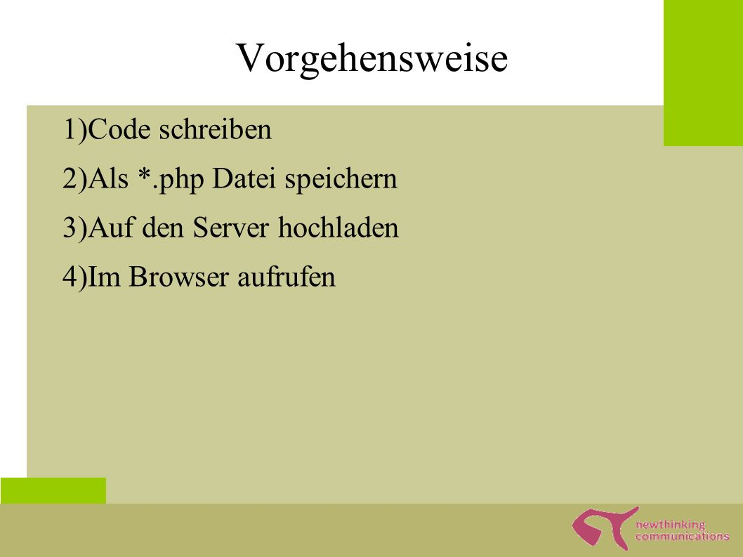 Die Theorie Client Server Apache Anfrage PHP PHP Dateien Antwort