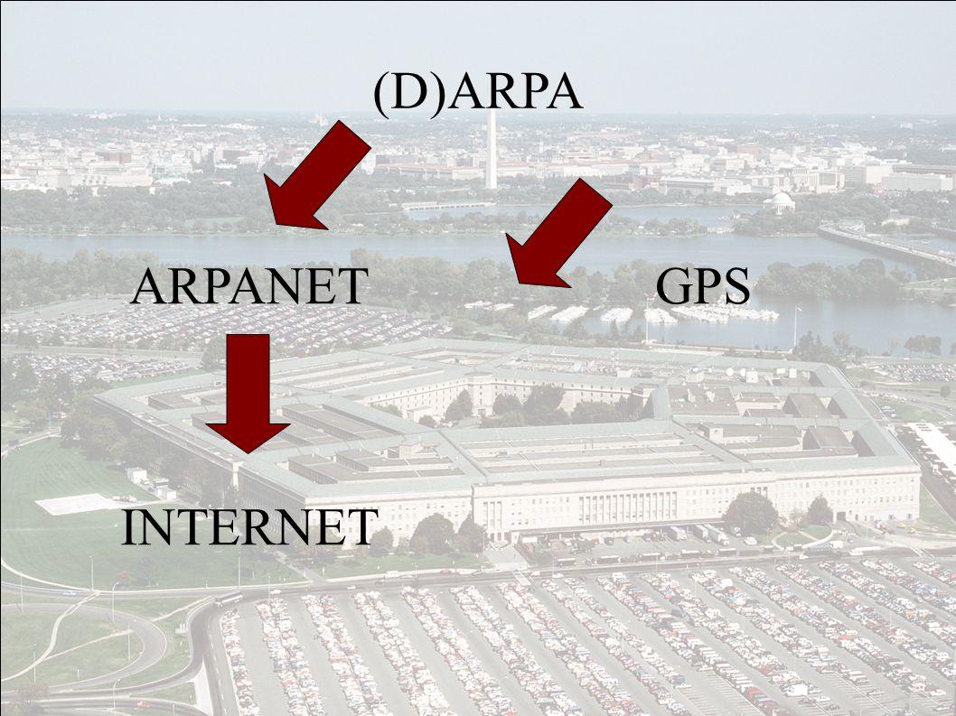 (D)ARPA GPS ARPANET INTERNET