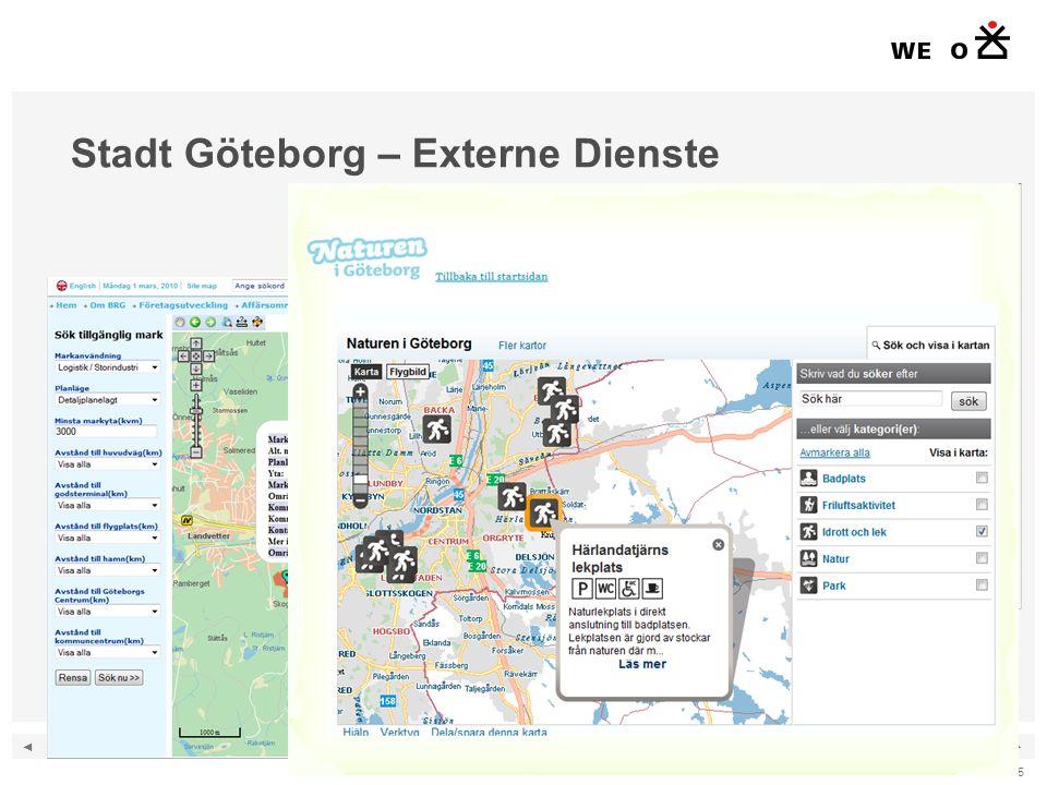 ◄ ► 15 Stadt Göteborg – Externe Dienste Quelle: Stadt Göteborg