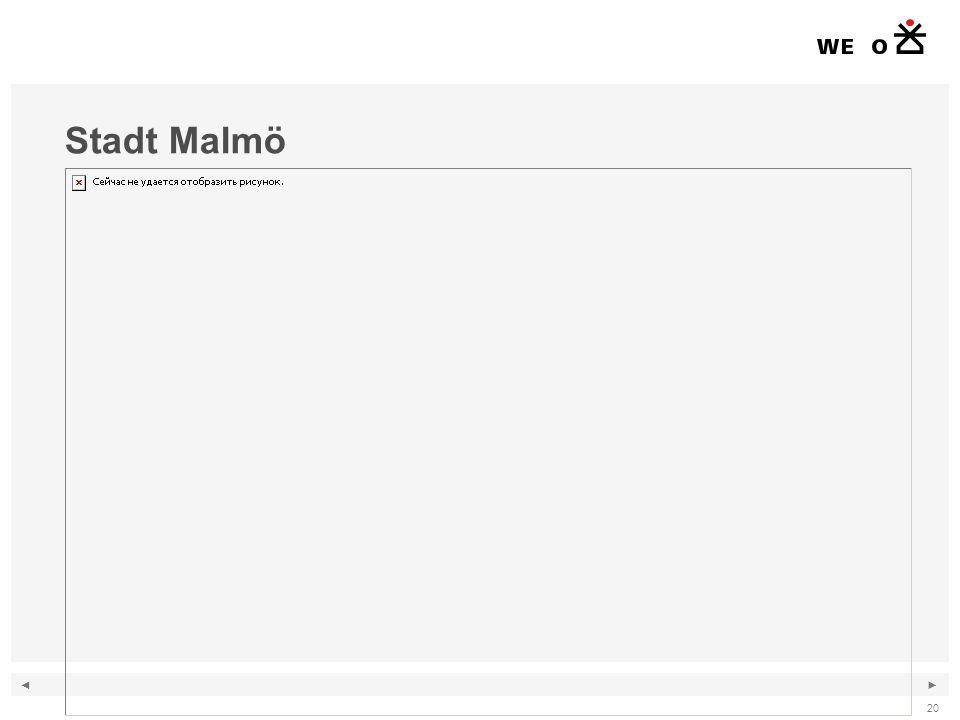 ◄ ► 20 Stadt Malmö