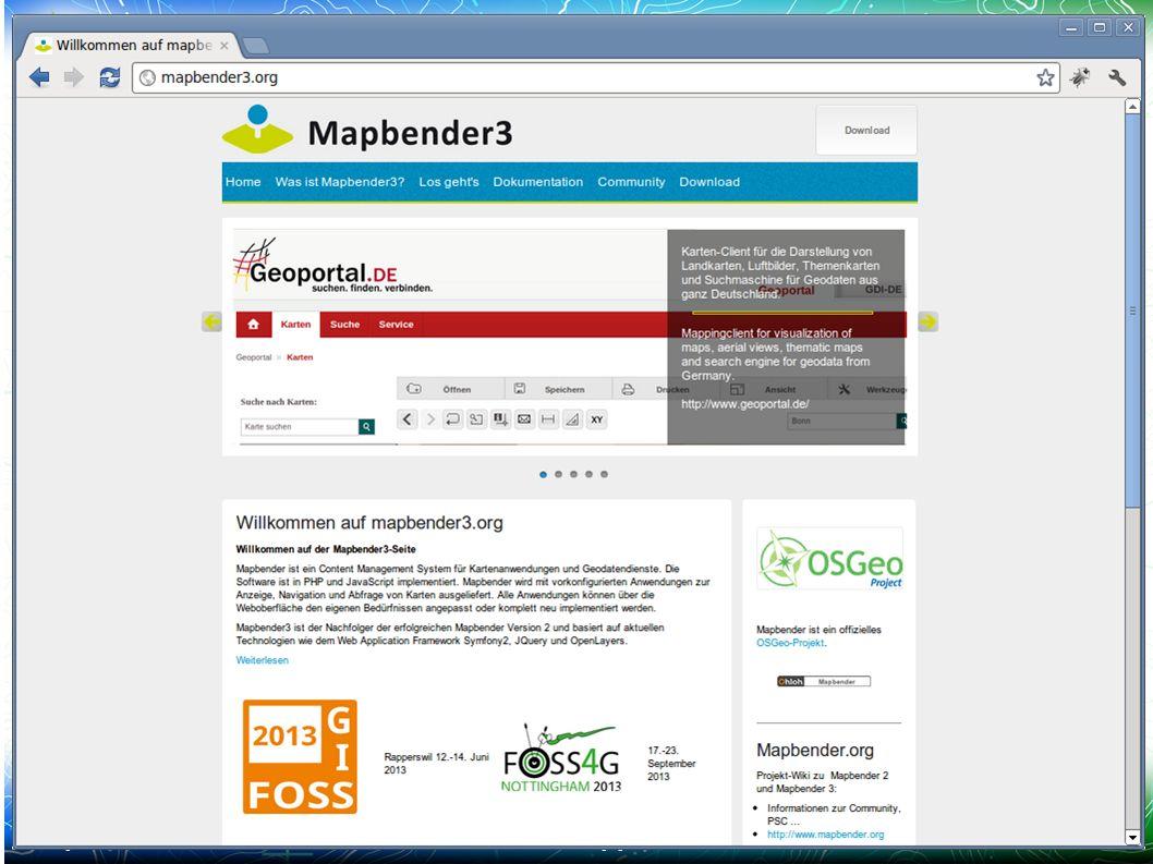Mapbender3 – Astrid Emde FOSSGIS 2013 Rapperwil 25 /