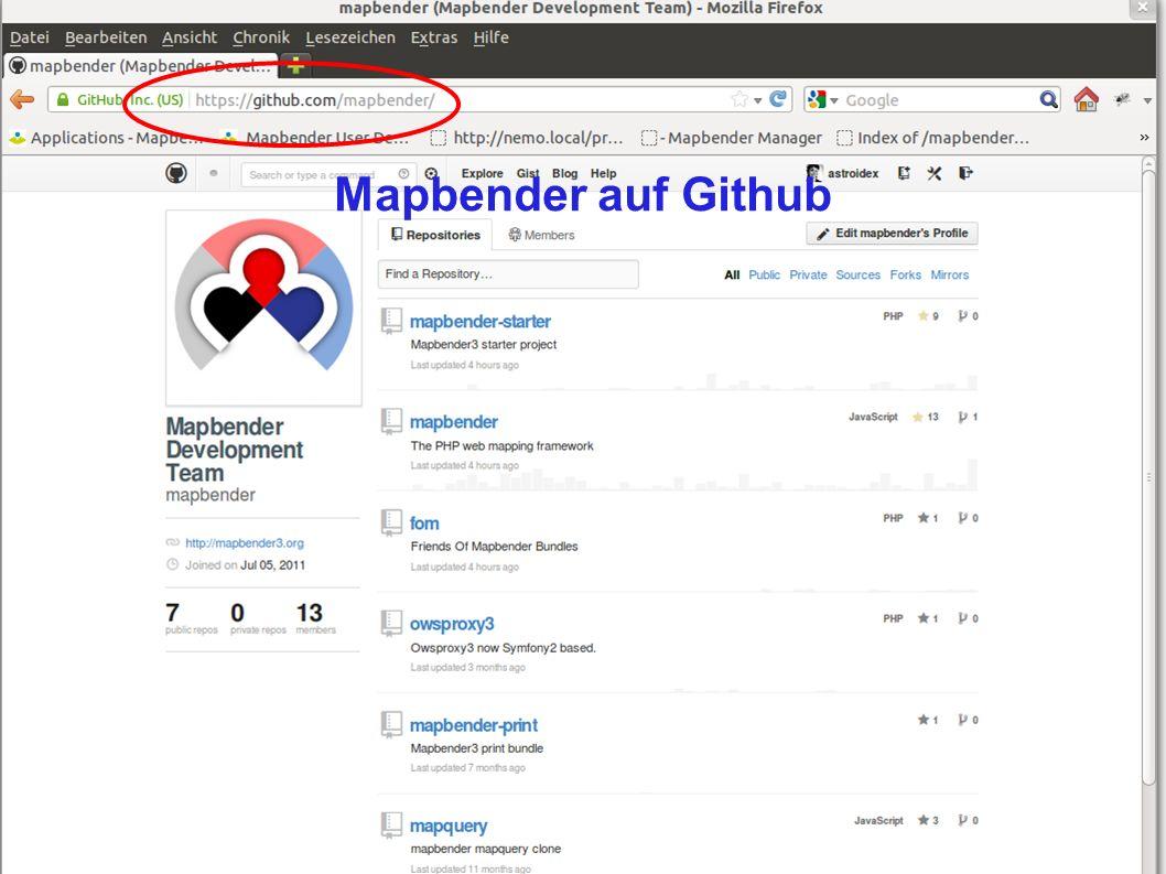 Mapbender3 – Astrid Emde FOSSGIS 2013 Rapperwil 7 / Mapbender auf Github