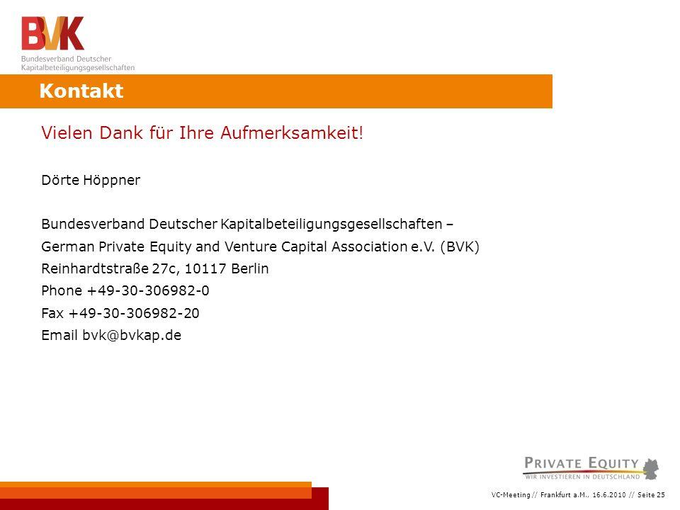 VC-Meeting // Frankfurt a.M., 16.6.2010 // Seite 25 Vielen Dank für Ihre Aufmerksamkeit.