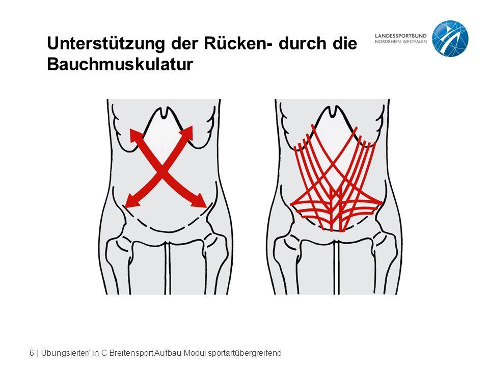 6 | Übungsleiter/-in-C Breitensport Aufbau-Modul sportartübergreifend Unterstützung der Rücken- durch die Bauchmuskulatur