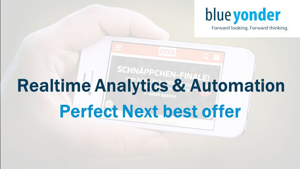 Realtime Analytics & Automation Perfect Next best offer