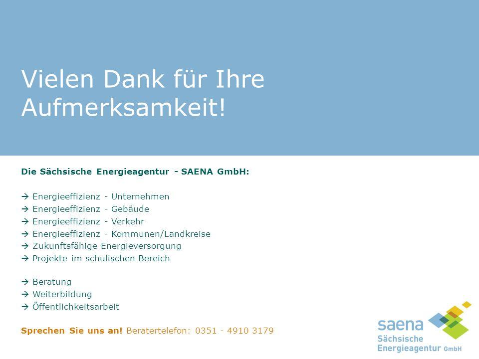 Die Sächsische Energieagentur - SAENA GmbH:  Energieeffizienz - Unternehmen  Energieeffizienz - Gebäude  Energieeffizienz - Verkehr  Energieeffizi