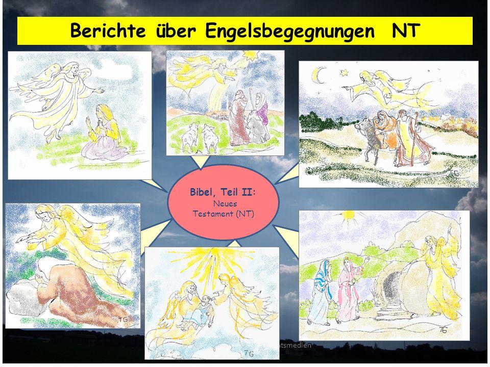 AUC Arbeitskreis für Unterrichtsmedien zum Christentum Berichte über Engelsbegegnungen NT Bibel, Teil II: Neues Testament (NT) Engel Gabriel kündigt 1.