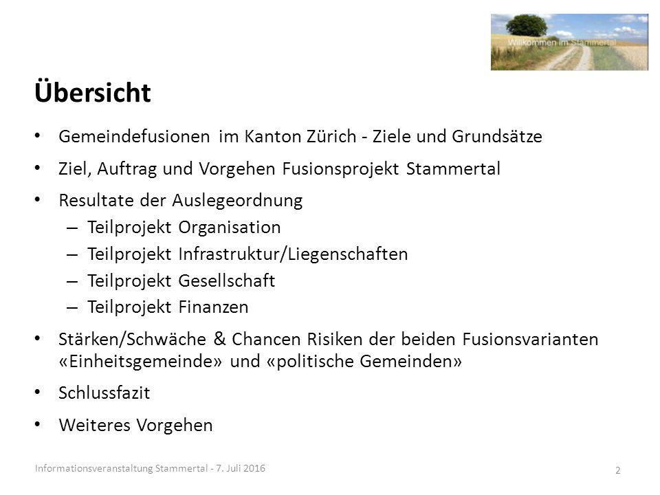Richtlinien der Regierungspolitik 2015 - 2019 Informationsveranstaltung Stammertal - 7.