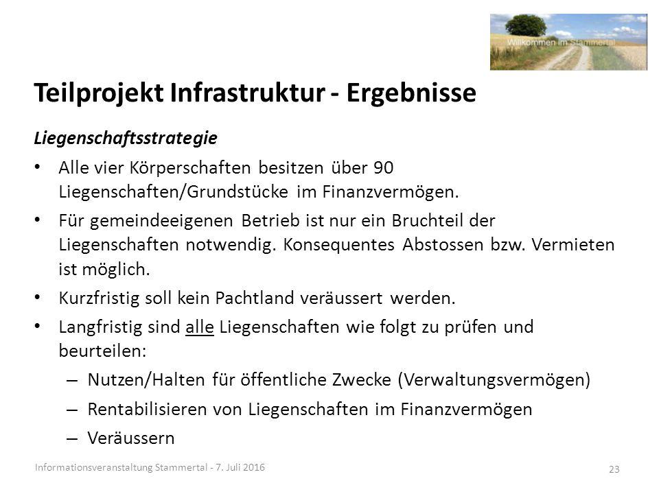 Teilprojekt Infrastruktur - Ergebnisse Informationsveranstaltung Stammertal - 7.