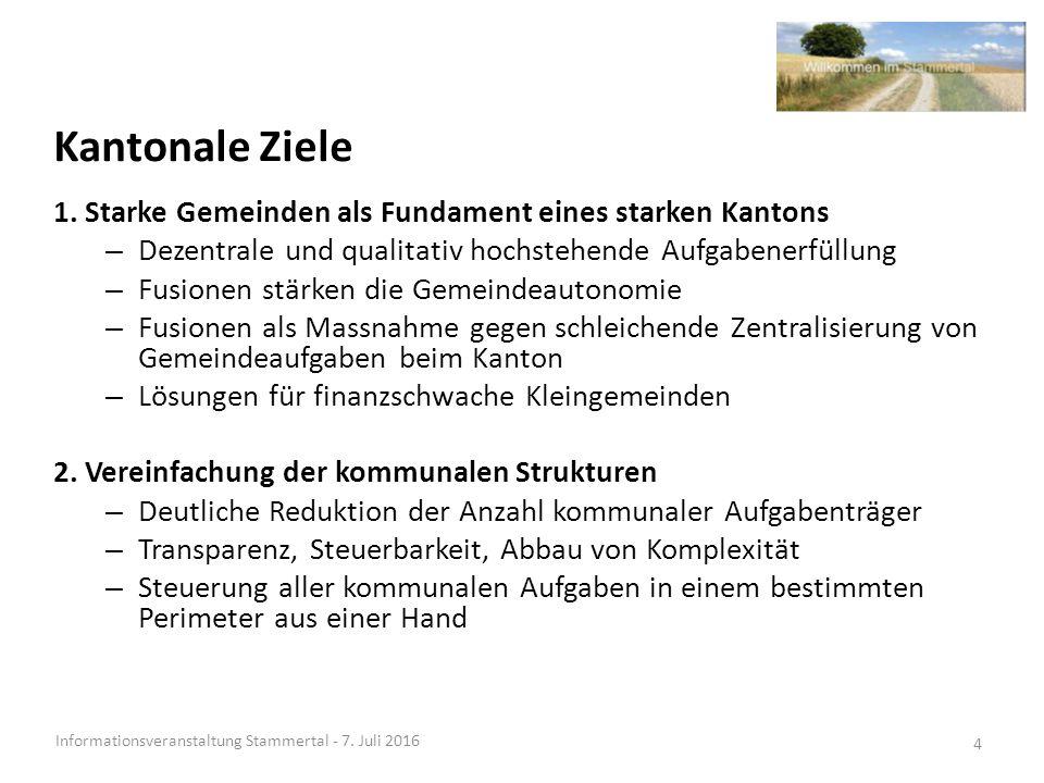 Fusionsziele im Stammertal - aus Sicht Kanton Informationsveranstaltung Stammertal - 7.