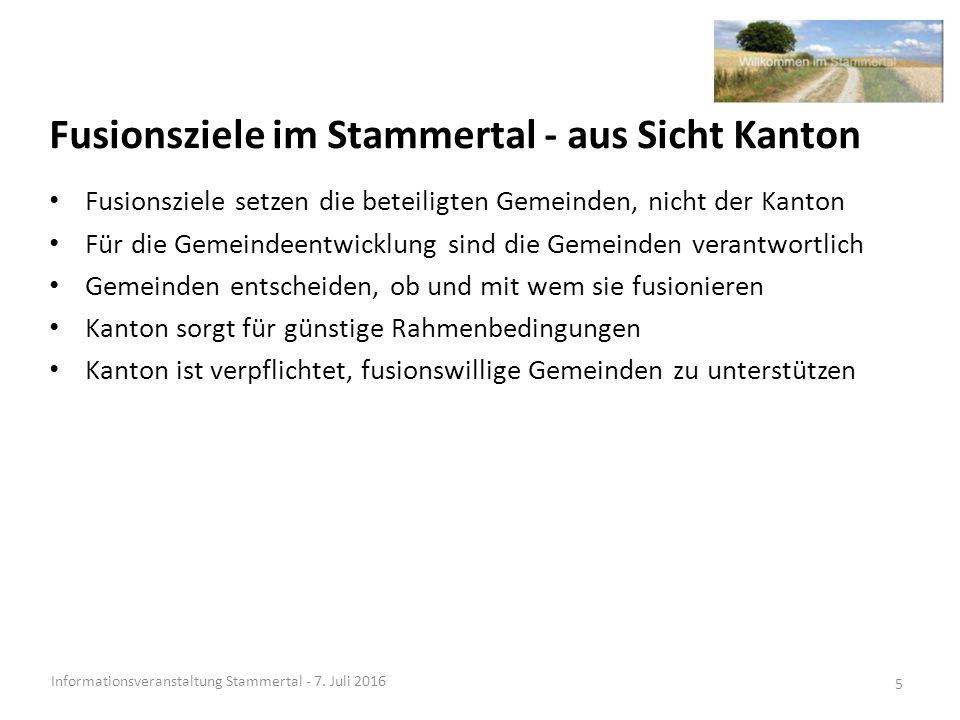 Stärken / Chance Variante Fusion pol.Gemeinden Informationsveranstaltung Stammertal - 7.