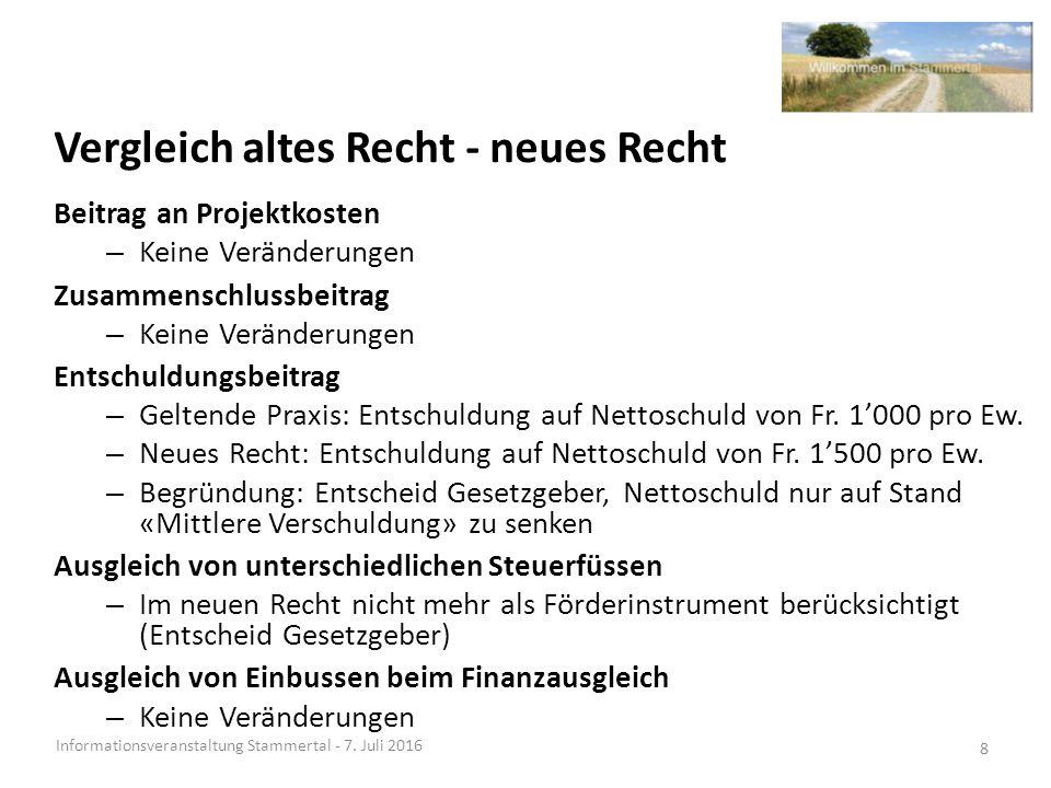 Projektziel und Auftrag Fusionsprojekt Stammertal Informationsveranstaltung Stammertal - 7.