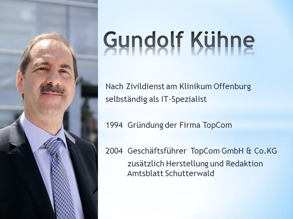 Nach Zivildienst am Klinikum Offenburg selbständig als IT-Spezialist 1994 Gründung der Firma TopCom 2004 Geschäftsführer TopCom GmbH & Co.KG zusätzlic