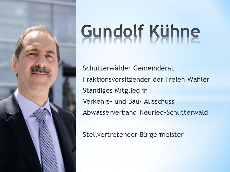 Schutterwälder Gemeinderat Fraktionsvorsitzender der Freien Wähler Ständiges Mitglied in Verkehrs- und Bau- Ausschuss Abwasserverband Neuried-Schutter