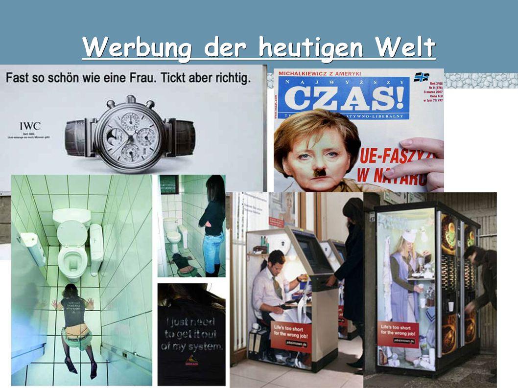 Werbung der heutigen Welt