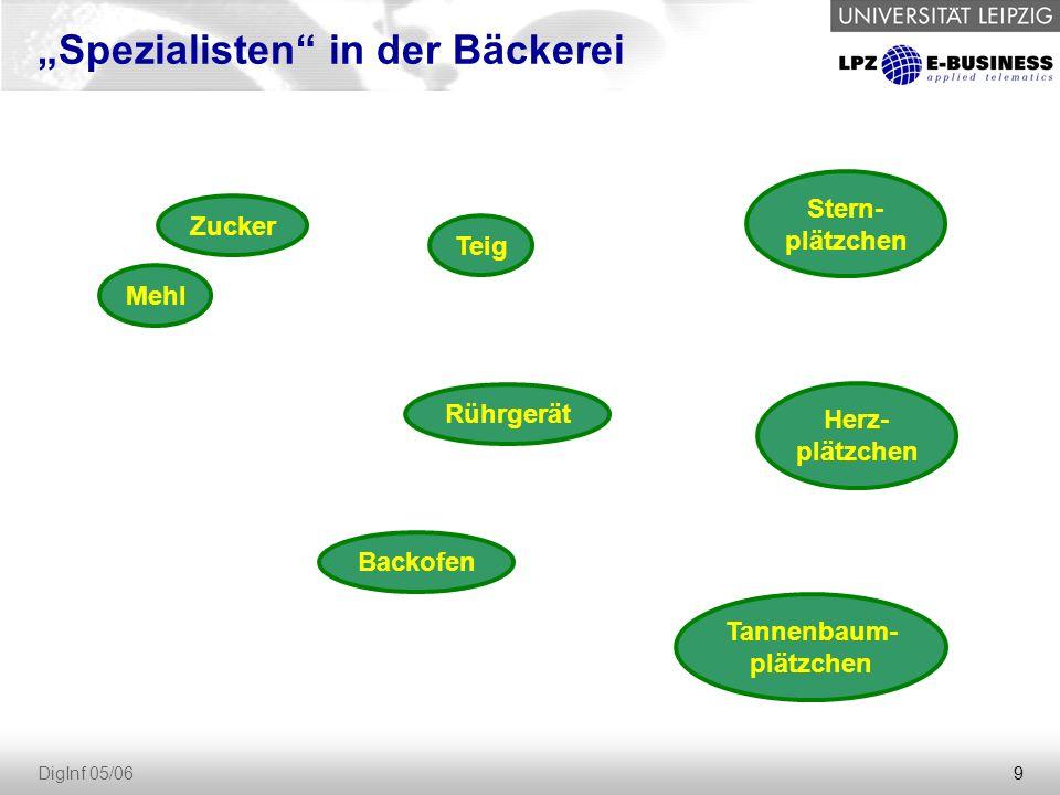 """9 DigInf 05/06 """"Spezialisten in der Bäckerei Zucker Mehl Teig Rührgerät Backofen Tannenbaum- plätzchen Stern- plätzchen Herz- plätzchen"""
