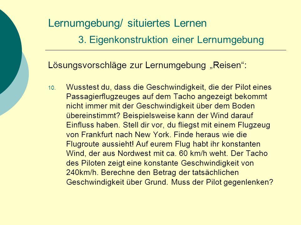 Lernumgebung/ situiertes Lernen 3.
