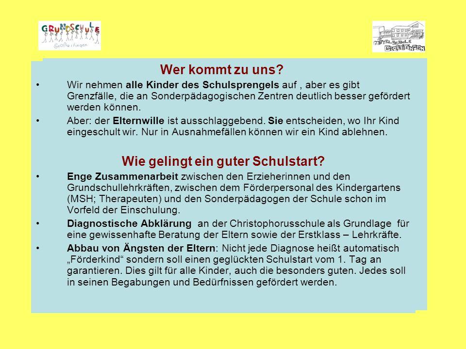 """Schule mit dem Profil """"Inklusive Schule Wer kommt zu uns."""