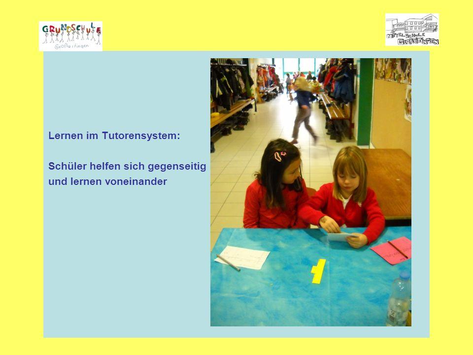 Lernen im Tutorensystem: Schüler helfen sich gegenseitig und lernen voneinander