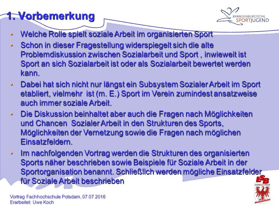 Aus der Sicht der Sozialarbeit: Was könnte Soziale Arbeit den Sportvereinen bieten?Was könnte Soziale Arbeit den Sportvereinen bieten.