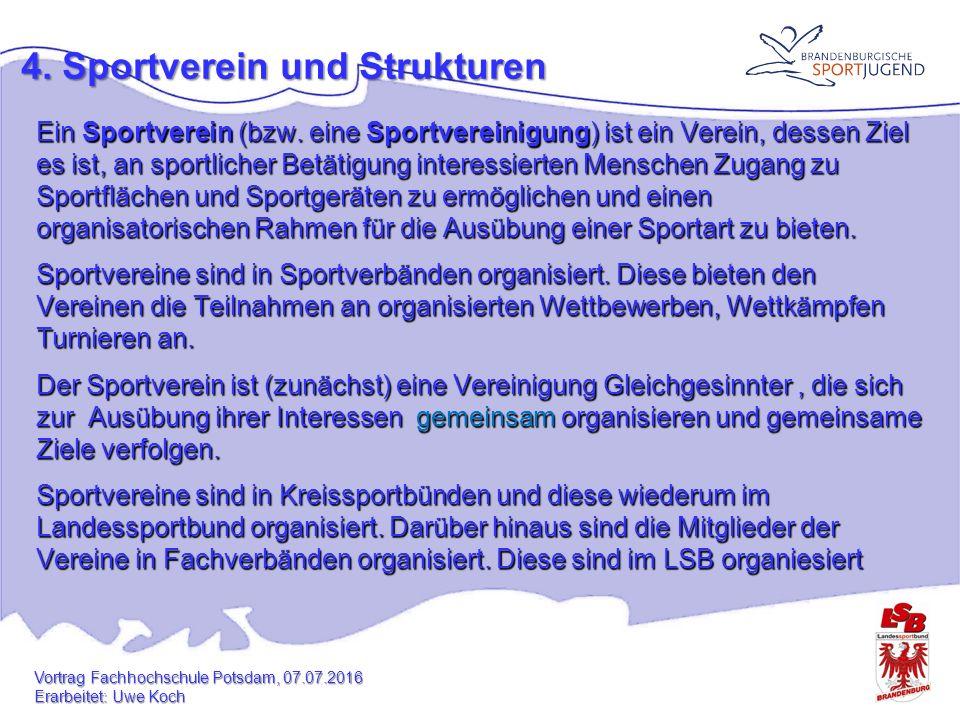 4.Sportverein idealtypische Strukturbesonderheiten von Sportvereinen: Freiwilligkeit 1.