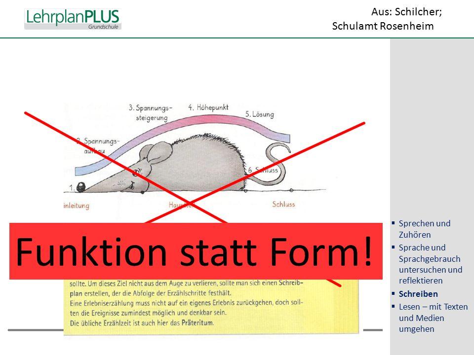 ^ Funktion statt Form.