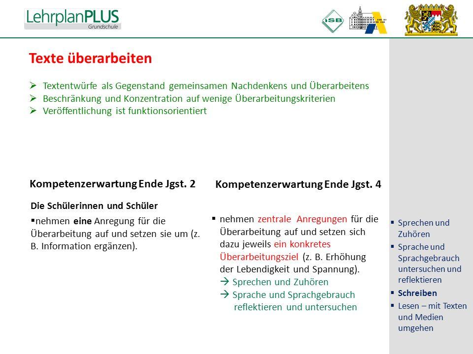 ^ Texte überarbeiten Kompetenzerwartung Ende Jgst.